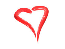 Heart. Red ceramic isolated art heart Royalty Free Stock Photography