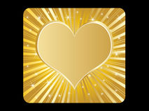 Heart. Golden poker element - shiny heart vector illustration