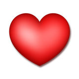 Heart. Red heart on a white background. A raster illustration Royalty Free Stock Photography