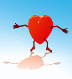 Heart. Vector heart illustration with its arms wide open stock illustration