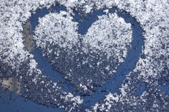 Heart. A love heart in the snow Stock Photography