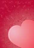 Heart. Decorative template from ornate elements, illustration Royalty Free Stock Images