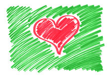 Heart. Color sketch of the heart Royalty Free Stock Photos