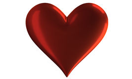 Heart. Vivid red heart with the reflection Stock Photo
