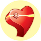 Heart. Gift box for your design royalty free illustration