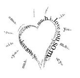 Heart. Typographic  illustration. i love you so much message Stock Photo