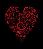 Heart. Valentine day heart. heart out of spirals. lovely heart Royalty Free Stock Image