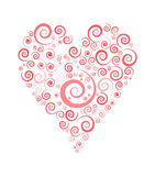 Heart. Valentine day heart. heart out of spirals. lovely heart Stock Images