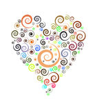 Heart. Valentine day heart. colorful heart. heart out of spirals Stock Images