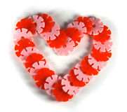 Heart. Plastic heart on the white background Royalty Free Stock Photos
