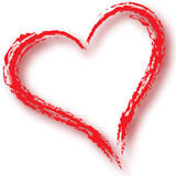 Heart. Brush stroke heart in red for Valentine's Day or other purpose Stock Photo