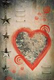 Heart. Abstract postcard with red heart Royalty Free Stock Image