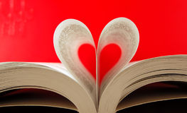 Heart. Pages of a book curved into a heart shape Royalty Free Stock Images