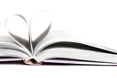 Heart. Pages of a book curved into a heart shape Stock Photography