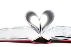 Heart. Pages of a book curved into a heart shape Stock Photo