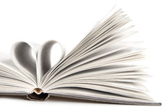 Heart. Pages of a book curved into a heart shape Royalty Free Stock Photography