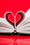 Heart. Pages of a book curved into a heart shape Royalty Free Stock Photos