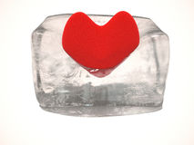 Heart. Love in heart will melt ice Stock Photography