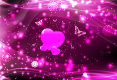 Heart. Valentine background with deep reds and swirls Stock Photos