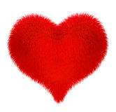 Heart. Soft fleecy heart isolated on white with clipping path Royalty Free Stock Images