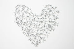 Heart. Messy word magnets on the fridge Stock Image