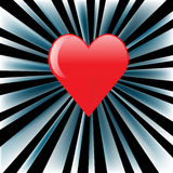 Heart. On the striped background with black stripes Royalty Free Stock Photography