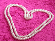 Heart. Of pearls Royalty Free Stock Photography