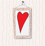 The Heart. The Herat in the frame, vektor illustration Stock Photography