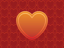 Heart. S ornament ready to use like a invitation or Valentines card Royalty Free Stock Photography