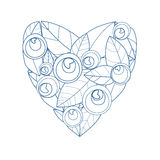 Heart. From blossoming roses a vector illustration Stock Photos