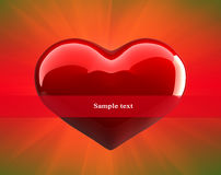 Heart. Red Heart. Happy Valentine's Day Royalty Free Stock Photography
