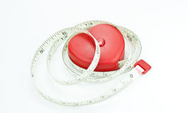 Heart. With measuring tape inside Royalty Free Stock Photo