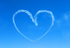 Heart. In sky Stock Images