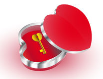 Heart. Symbolically open heart with a key Royalty Free Stock Images