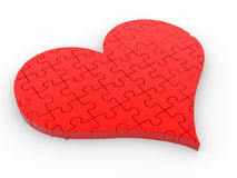 Heart. A heart of the puzzle (jigsaw). 3d render illustration Royalty Free Stock Photos