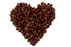 Heart. The heart build with coffee beans Stock Image