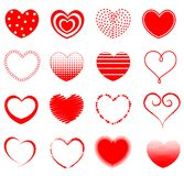 Heart. 16 different heart shapes collection specially for valentines / love related designs royalty free illustration