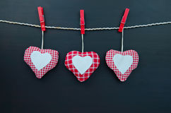 Heart. Hanging on a line Royalty Free Stock Images
