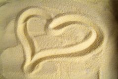 Heart. The heart of flour symbol of affection and love Royalty Free Stock Photo