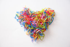 Heart. Colorful isolated by Rubber band Stock Photo