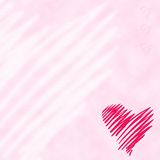 Heart. On gently pink background Stock Image
