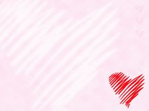Heart. On gently pink background Royalty Free Stock Images