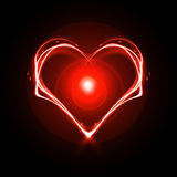 Heart. On a black background Stock Photography