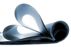 Heart. Pages of magazine curved into a heart shape Stock Photo
