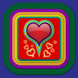 Heart. Created in Adobe Illustrator. Layered .ai file is available Stock Photography