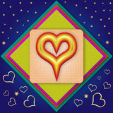 Heart. Created in Adobe Illustrator. Layered .ai file is available Royalty Free Stock Photography