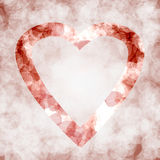 The heart. Poster to print about love or to be used and background Royalty Free Stock Photos
