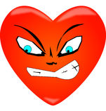 Heart. Love evil despair passion leer Royalty Free Stock Photos