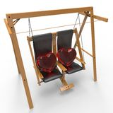 Heart. This is a 3d illustration of love Stock Image