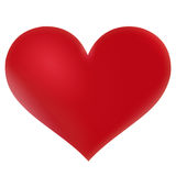 Heart. Big red valentine heart isolated stock illustration
